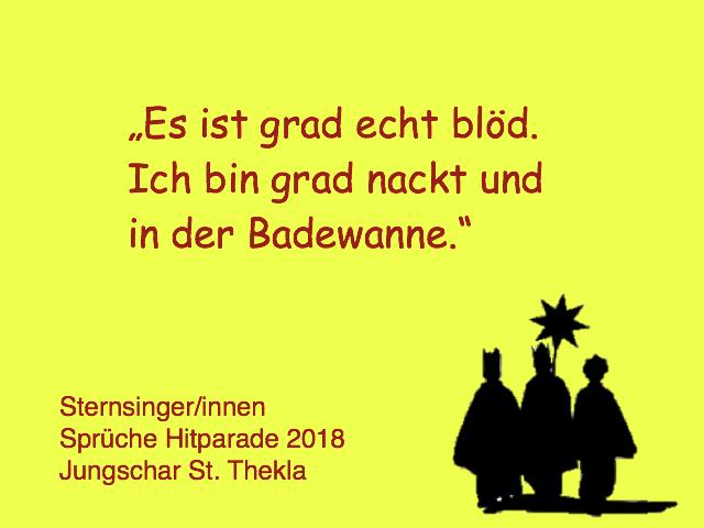 Sternsingerinnen Sprüche Hitparade 2018 Jungschar St